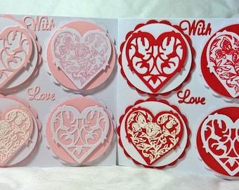 Four Decorative Hearts