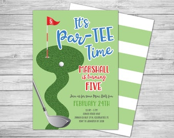 Mini golf invitation etsy miniature golf birthday party invitation top golf mini golf party invitation putt putt golf birthday invitation 5x7 digital pdf filmwisefo