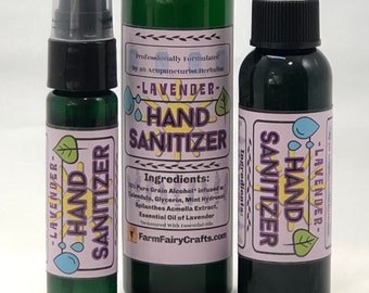 4 fl oz Lavender Calendula Hand Sanitizer with Denatured Alcohol, Sanitize