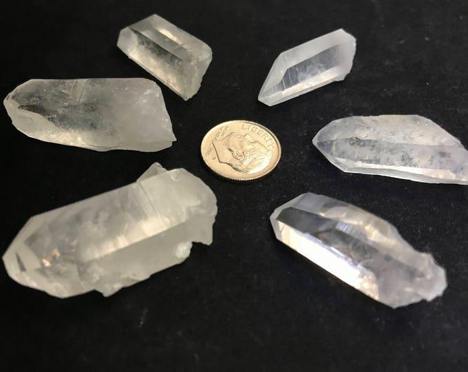 6 Large Arkansas Quartz Jewelry Points, {PT-3}