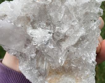 Quartz Crystal, Cluster, Matrix, Large, Clear, RARE INCLUSIONS