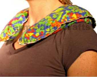 Neck Wrap, Moon Wrap, Heating Pad, Shoulder Wrap, Cotton Flannel, Hot Cold Pack, Heat Therapy