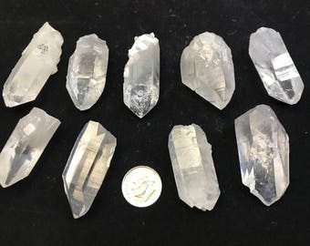 9 XL Arkansas Quartz Jewelry Points, 9 Extra Large {PT-4}