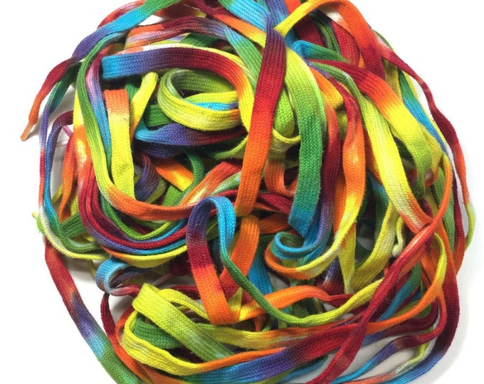 "45"" Tie Dye Shoe Laces - Rainbow"