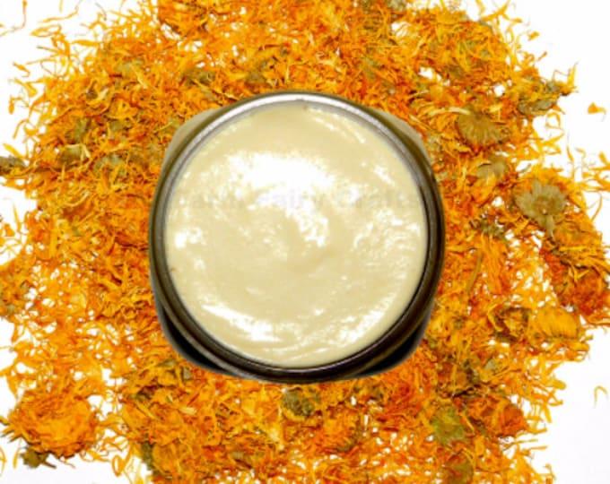 8oz Condensed, Solar Infused, Organic Lavender Calendula Cream, Shea Butter, Aloe, Bulk
