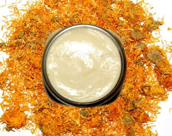 8oz Condensed Shea Lotion, Organically Grown Lavender Calendula Buttercream, Aloe, Cream