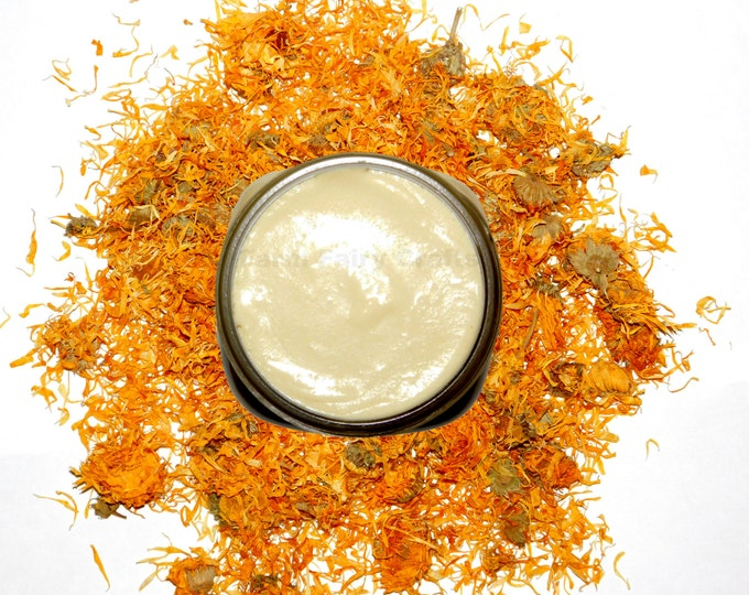 4oz Solar Infused Organically Grown Lavender Calendula Cream, Shea Butter, Aloe, Condensed