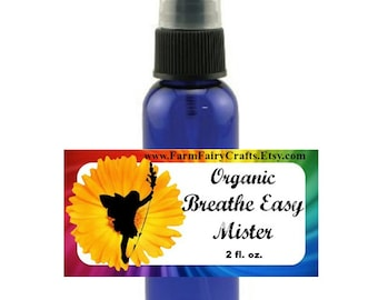 Breathe Easy Respiratory Relief Mister: Herbal, Acupuncture, Cold, Flu, Cough, Allergies, Relief, Vapor Rub Spray Mister