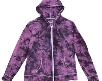 Purple Tie Dye Lightweight Hoodie, Extra Large