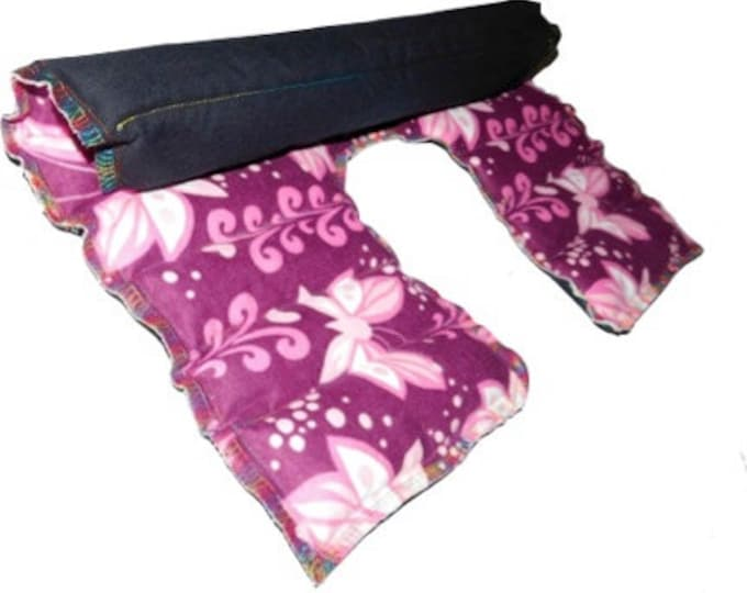 Microwave Heating Pad Flax Rice Bag - Neck Shoulder Wrap - Purple Fairy Pink Faerie