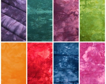 Tie Dye Cotton Flannel Quilting Fabric Fat Quarter