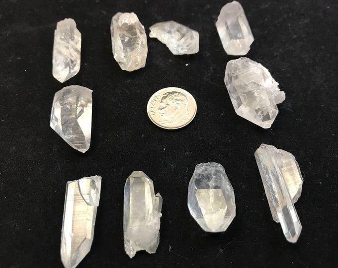 10 Medium Arkansas Quartz Jewelry Points, {PT-2}