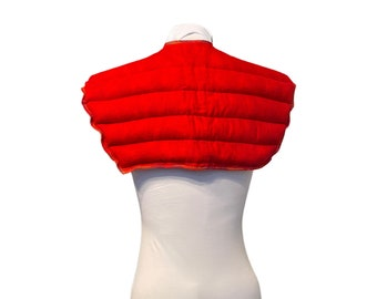 Shoulder Wrap Neck Wrap Heating Pad - Organic Flax Rice Bag - Spa Gift