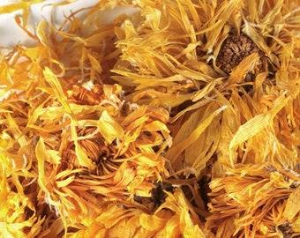 Organic Dried Calendula Flower 1/4 lb