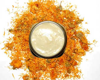 Solar Infused Organic Lavender Calendula Cream, Shea Butter, Aloe, CONDENSED, Wholesale, Bulk, 64 oz