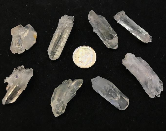 8 Medium Super Premium Arkansas Quartz Jewelry Points, {SP-2}