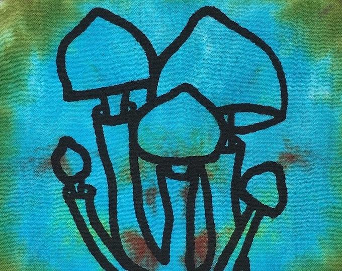Tea Towel - Tie Dye Screen Print 'Mushroom'