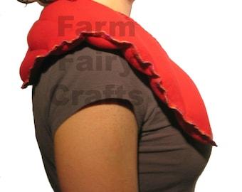 Microwave Neck Warmer Shoulder Wrap - Rice Flax Bag Hot Pack