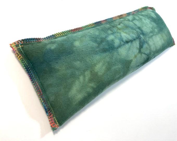 Large Microwave Rice Herbal Heat Eye Pillow Heating Pad, Organic Flax Eye Mask Cold Large