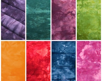 Tie Dye Cotton Flannel Quilting Fabric by the Yard