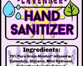 4+ fl oz Lavender Hand Sanitizer with Denatured Alcohol, Sanitize
