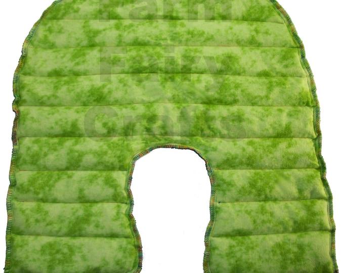 Heating Pad Rice Flax Bag - Organic Herbal Shoulder Wrap - Green