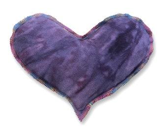 Organic Herbal Heart Eye Pillow Sinus Mask - Anxiety Stress Headache Relief