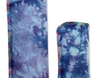 Hand-Dyed Shibori Eye Pillow, Heating Pad, Eye Mask, Microwaveable Bag, Hot Cold Pack, Large