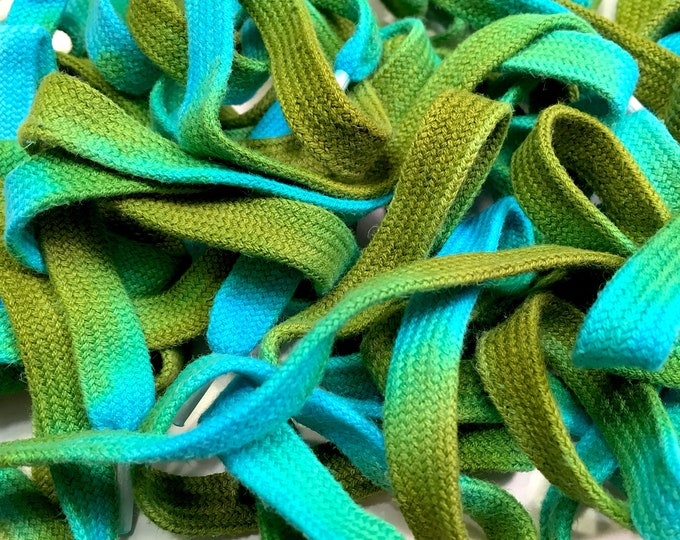 "54"" Tie Dye Shoelaces - Blue & Green"