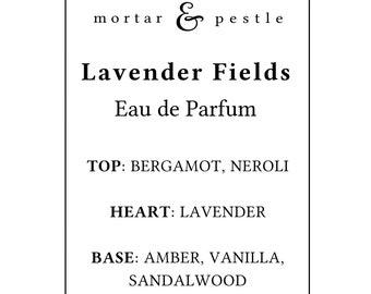 Lavender Vanilla Neroli Perfume Organic Eau de Parfum
