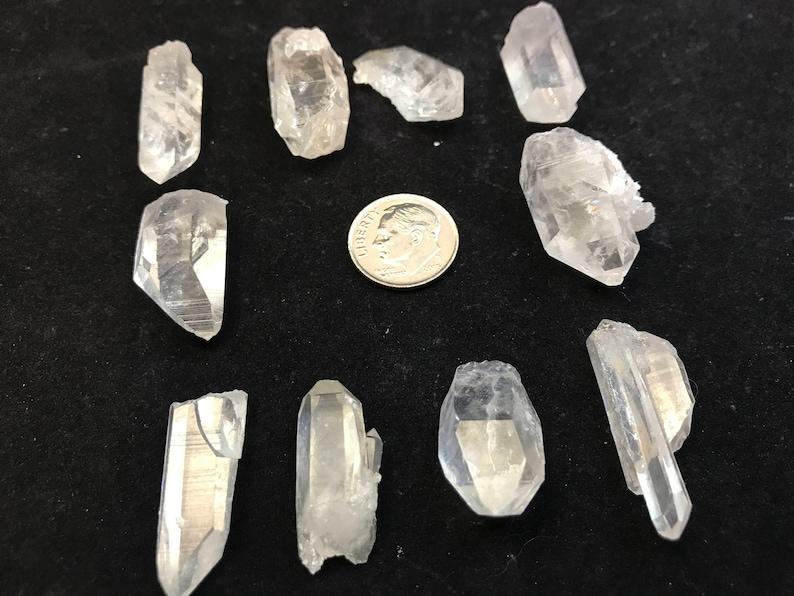 10 Medium Arkansas Quartz Jewelry Points PT-2 image 0