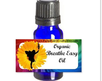 Breathe Easy Respiratory Relief Essential Oil: Herbal, Acupuncture, Cold, Flu, Cough, Allergies