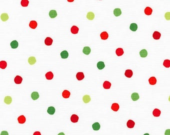 1/4+ Yard Dr. Seuss Celebrate Polka Dot - White Cotton Fabric By the 1/4 Quarter Yard or 1/2 Yard - Face Masks Quilting
