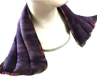 Microwave Rice Flax Bag Heating Pad Neck Warmer - Organic Flax, Tie Dye Fabric