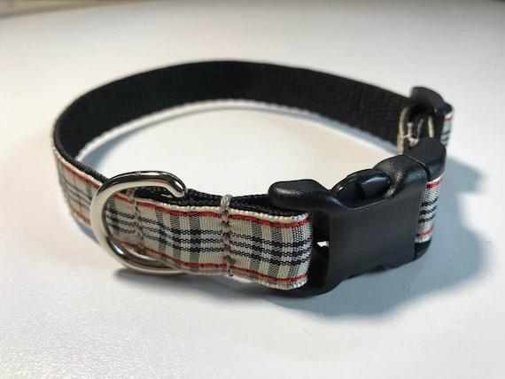Collier de chien   Burberry collier ruban pour les sangles   Etsy da94bc2993f