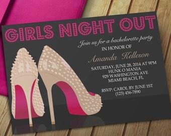 Girls Night Invite Etsy