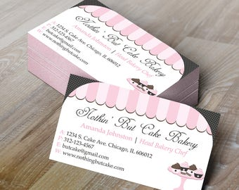 diy do it yourself bakery business card design editable template microsoft word format - Bakery Business Cards