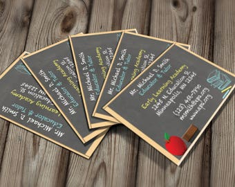 Tutor business card etsy diy do it yourself teacher business card tutor business card editable template microsoft word format reheart Gallery