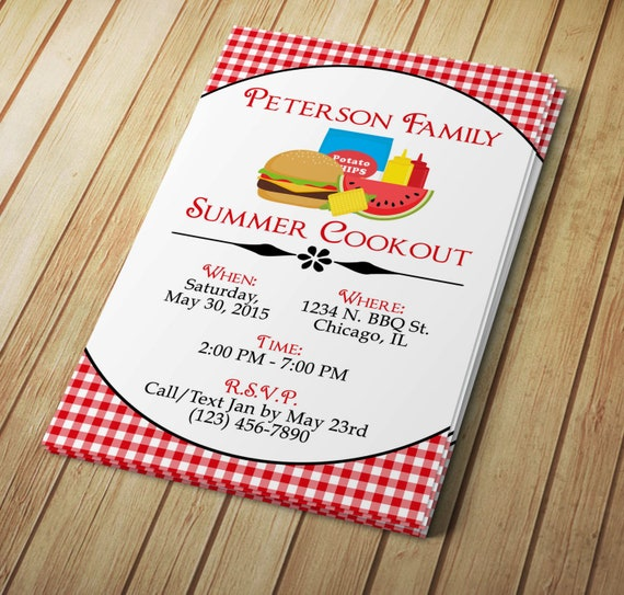diy do it yourself summer cookout invitation editable etsy