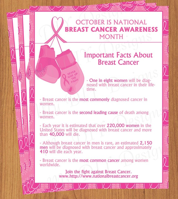 Diy Do It Yourself Breast Cancer Awareness Flyer Editable Template Microsoft Word Format