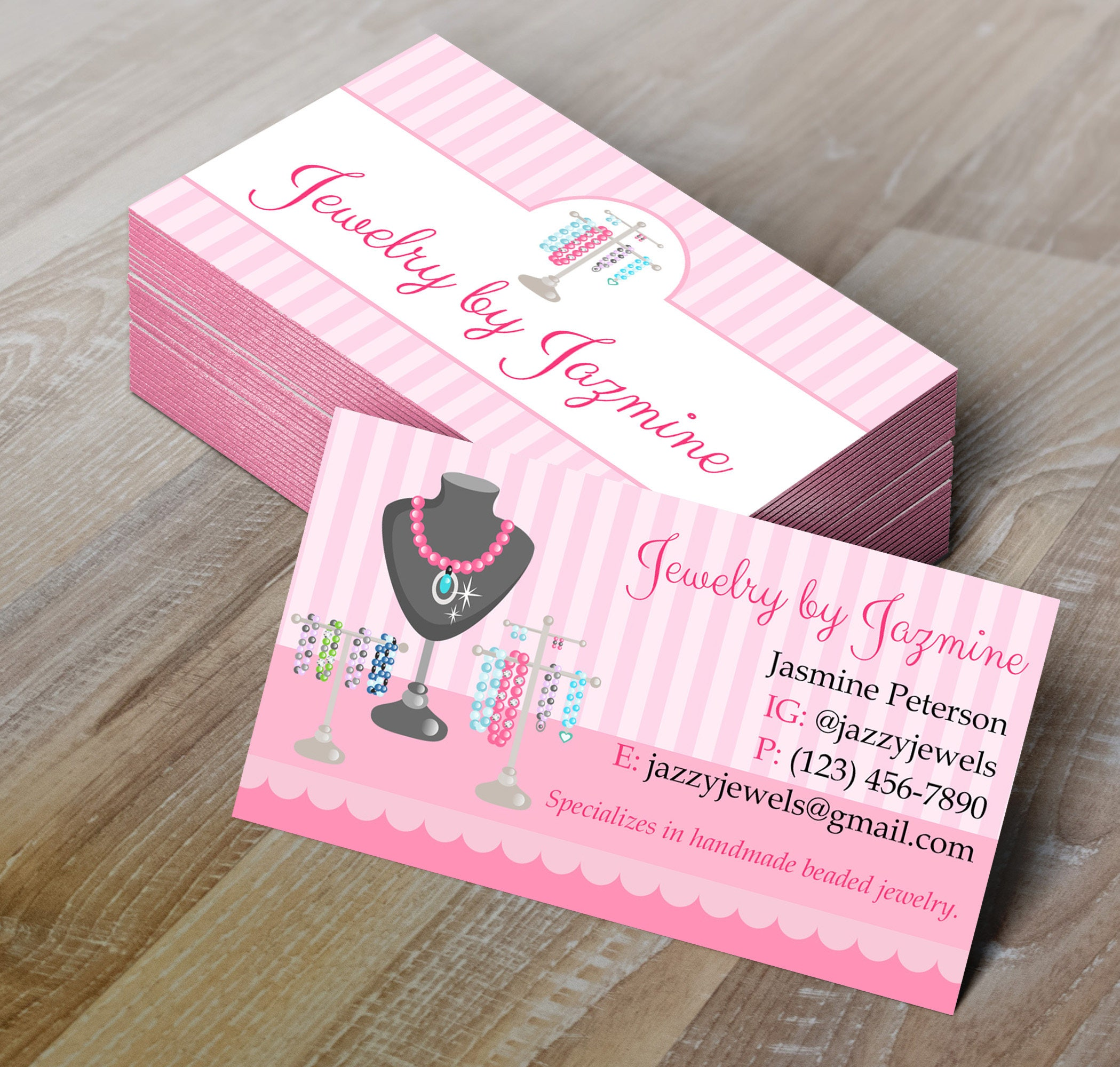 Do It Yourself Jewelry: DIY Do-It-Yourself Jewelry Making Business Card Editable