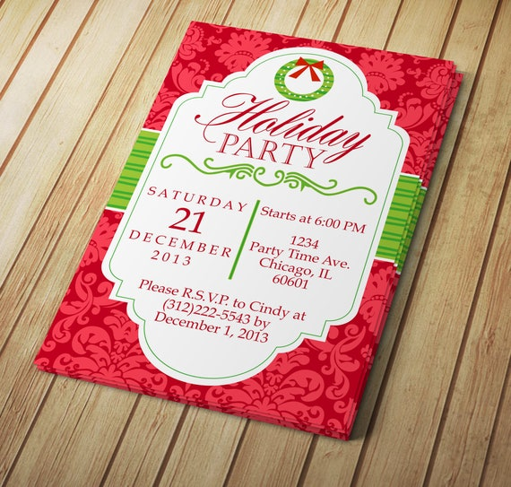 Diy do it yourself holiday party invitation editable etsy solutioingenieria Image collections