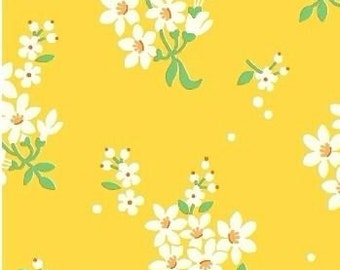 Yellow Feedsack Floral  Fabric