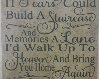 If Tears Could Build A Staircase tile