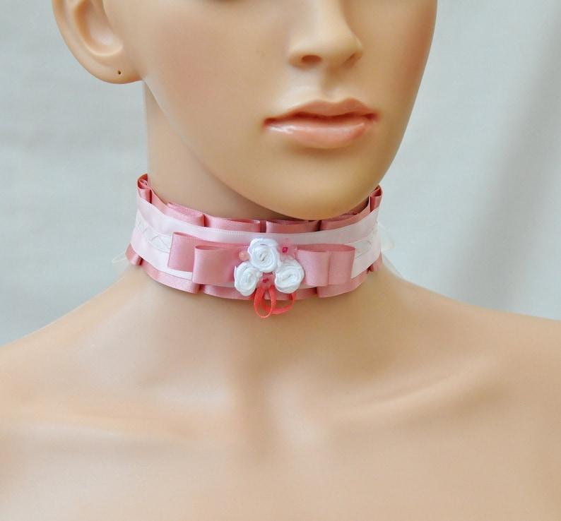 Lolita Gothic Black Rose Flower Lace Choker Collar Necklace Beads Chain CJ
