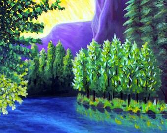 Yosemite! Original oil painting.