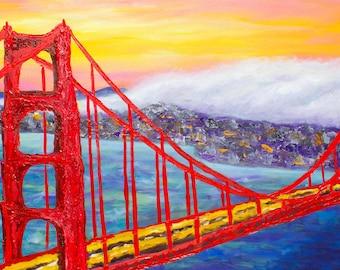 Unique Landscape of the Golden Gate Bridge