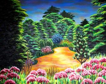 """Original Oil Painting of the """"Arboretum"""" in Golden Gate Park"""