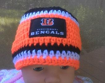 Cincinnati Bengals inspired baby hat 27d225b8b