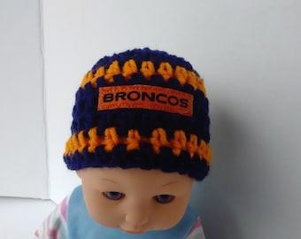 ca1f8c027 Denver Broncos inspired preemie hat micro preemie
